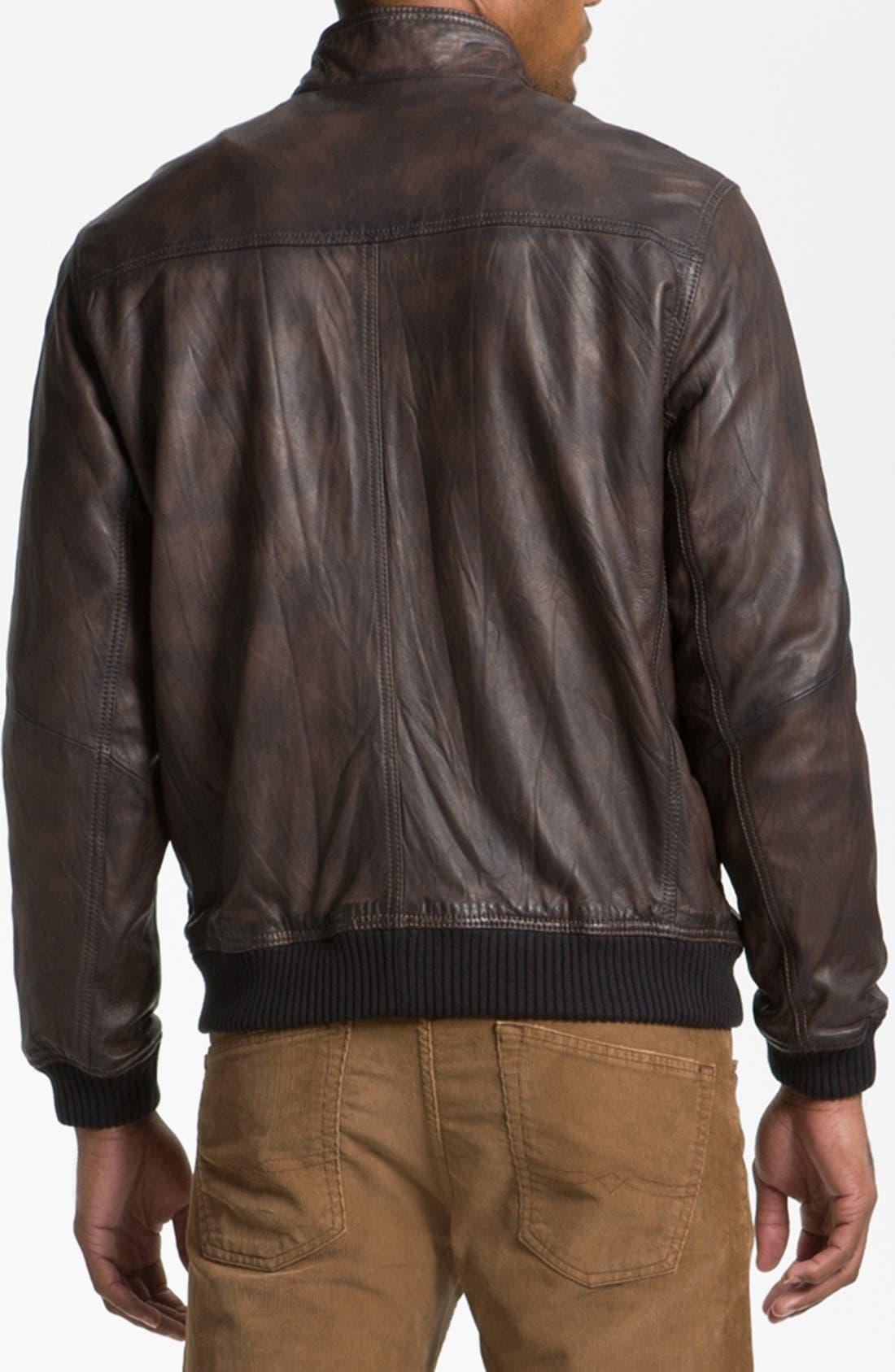 Alternate Image 2  - Tommy Bahama 'Island Aviator' Leather Jacket