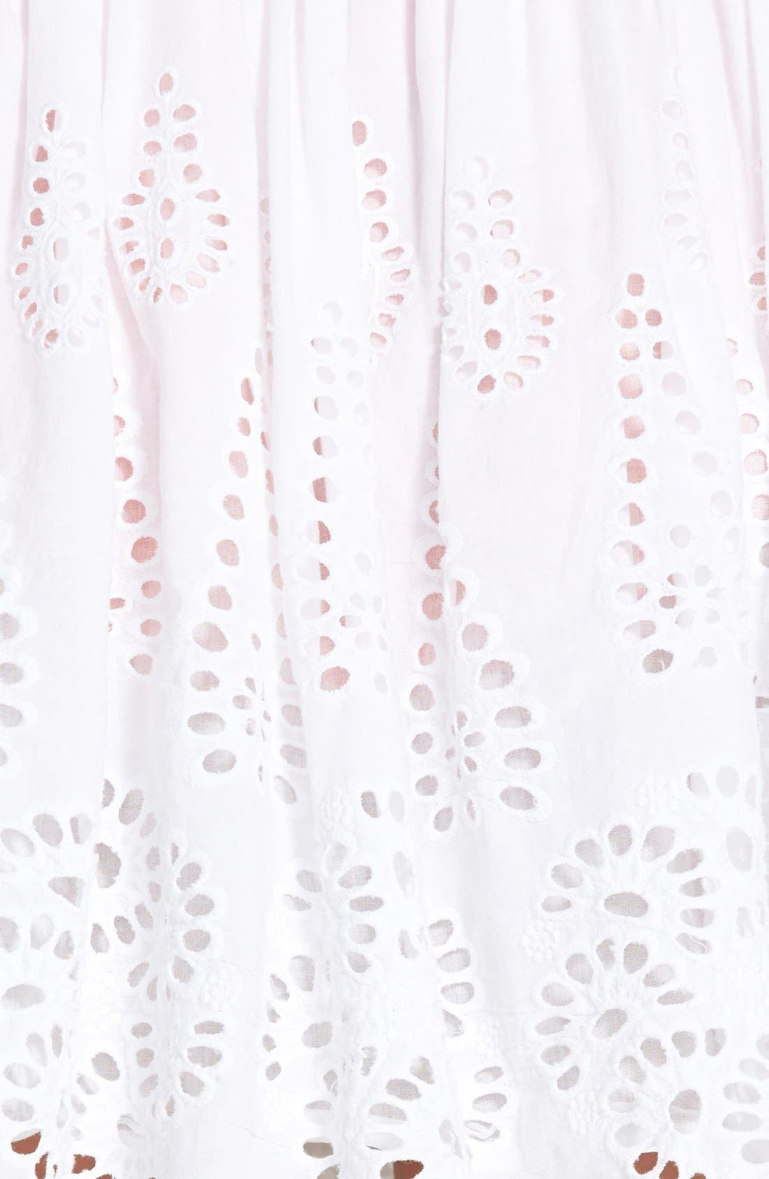 Alternate Image 3  - Two by Vince Camuto Eyelet Embroidered Cotton Skirt
