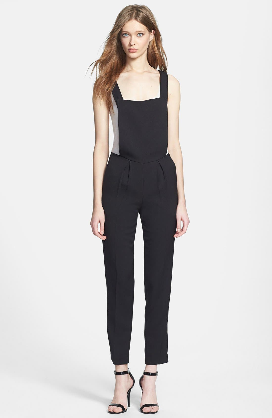 Main Image - Line & Dot Tailored Overalls