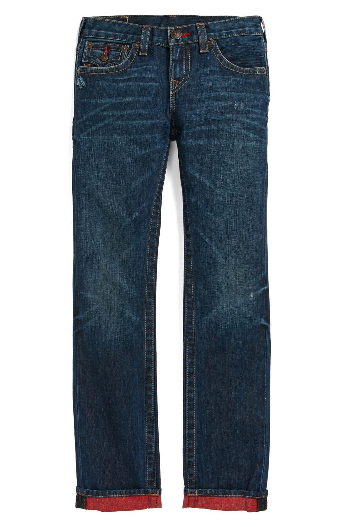 Alternate Image 2  - True Religion Brand Jeans 'Jack' Reverse Dye Slim Leg Jeans (Little Boys & Big Boys)