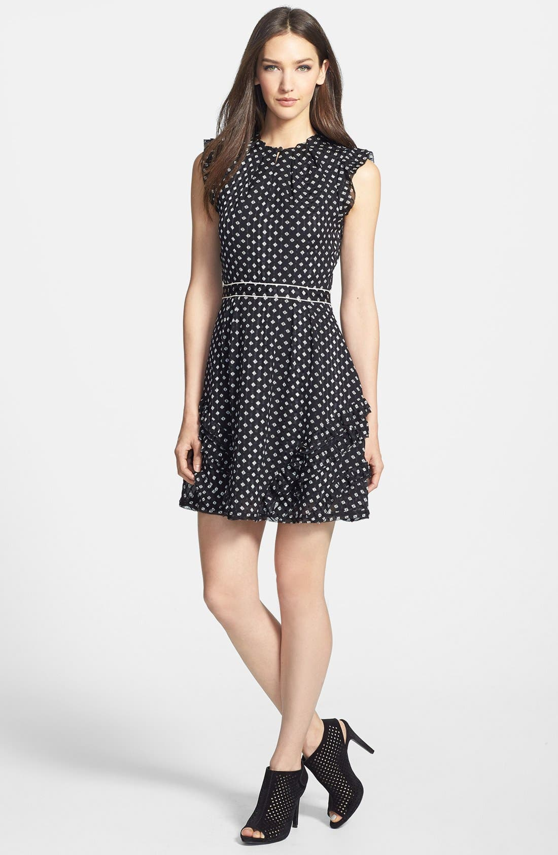 Main Image - MARC BY MARC JACOBS 'Mini Diamond' Crinkle Silk A-Line Dress