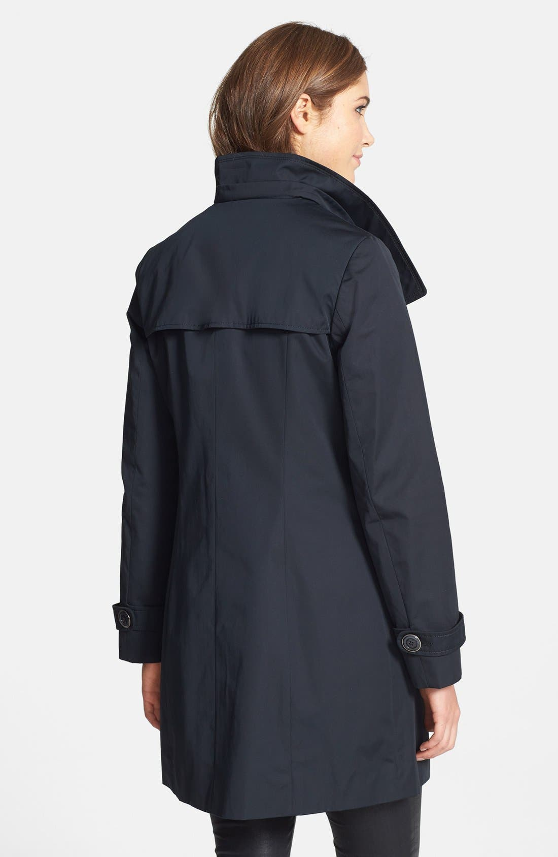 Alternate Image 2  - Ellen Tracy Double Breasted Raincoat (Online Only)