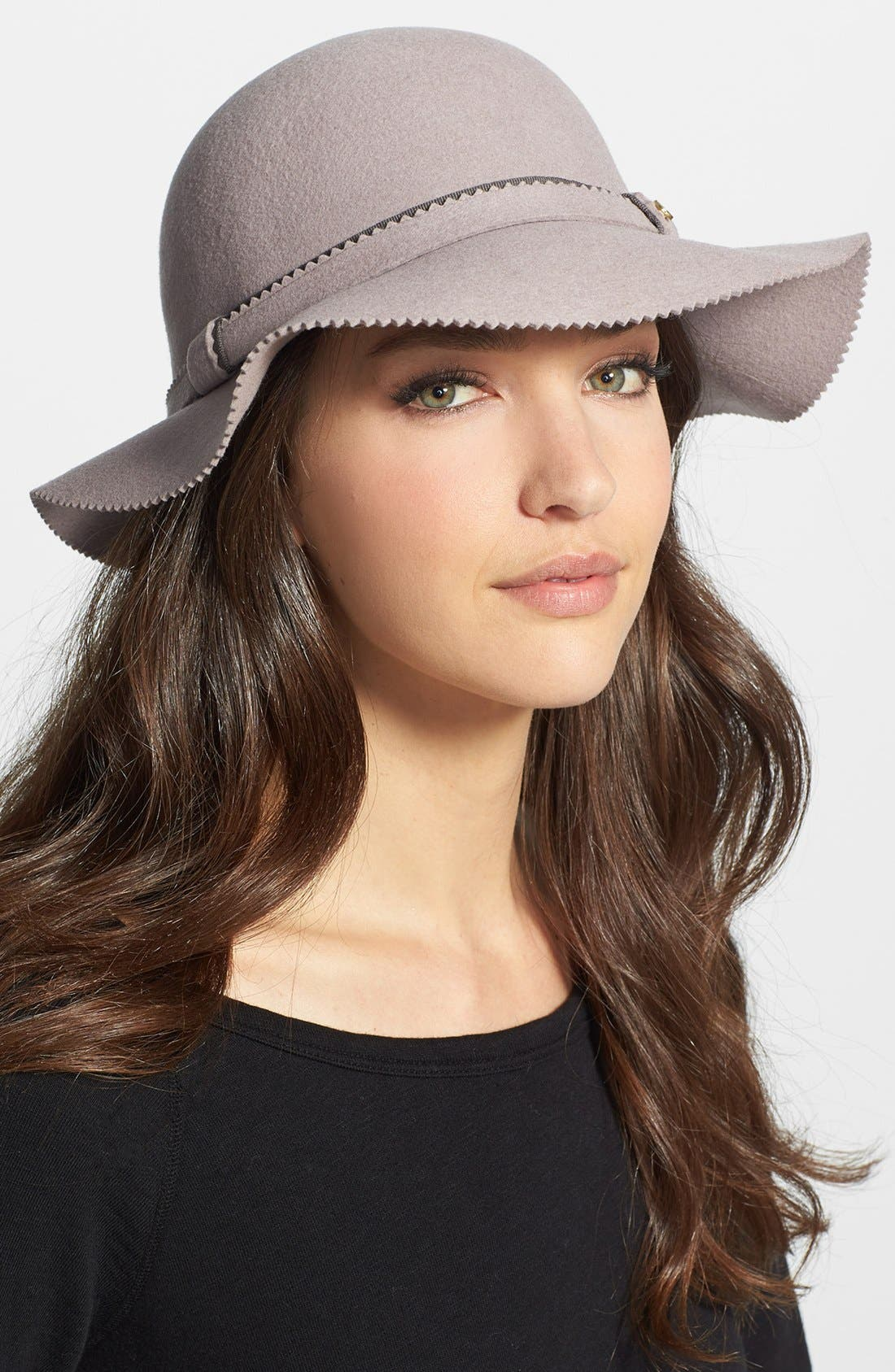 Main Image - BCBGeneration Pinked Edge Floppy Hat
