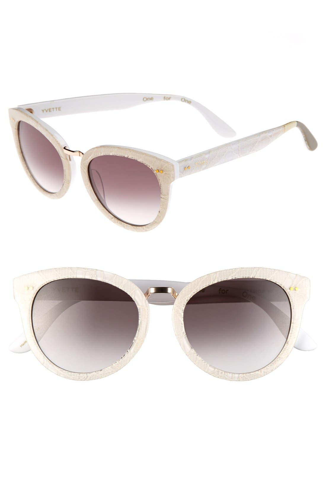 Main Image - TOMS 'Yvette' 52mm Sunglasses