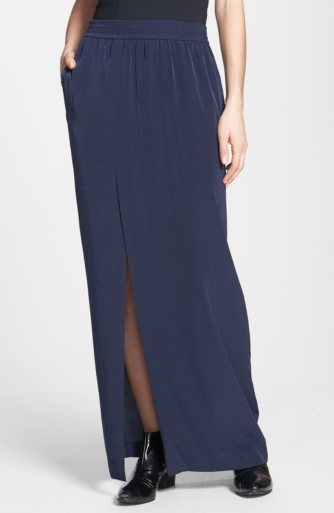 Alternate Image 1 Selected - Tildon Side Slit Maxi Skirt