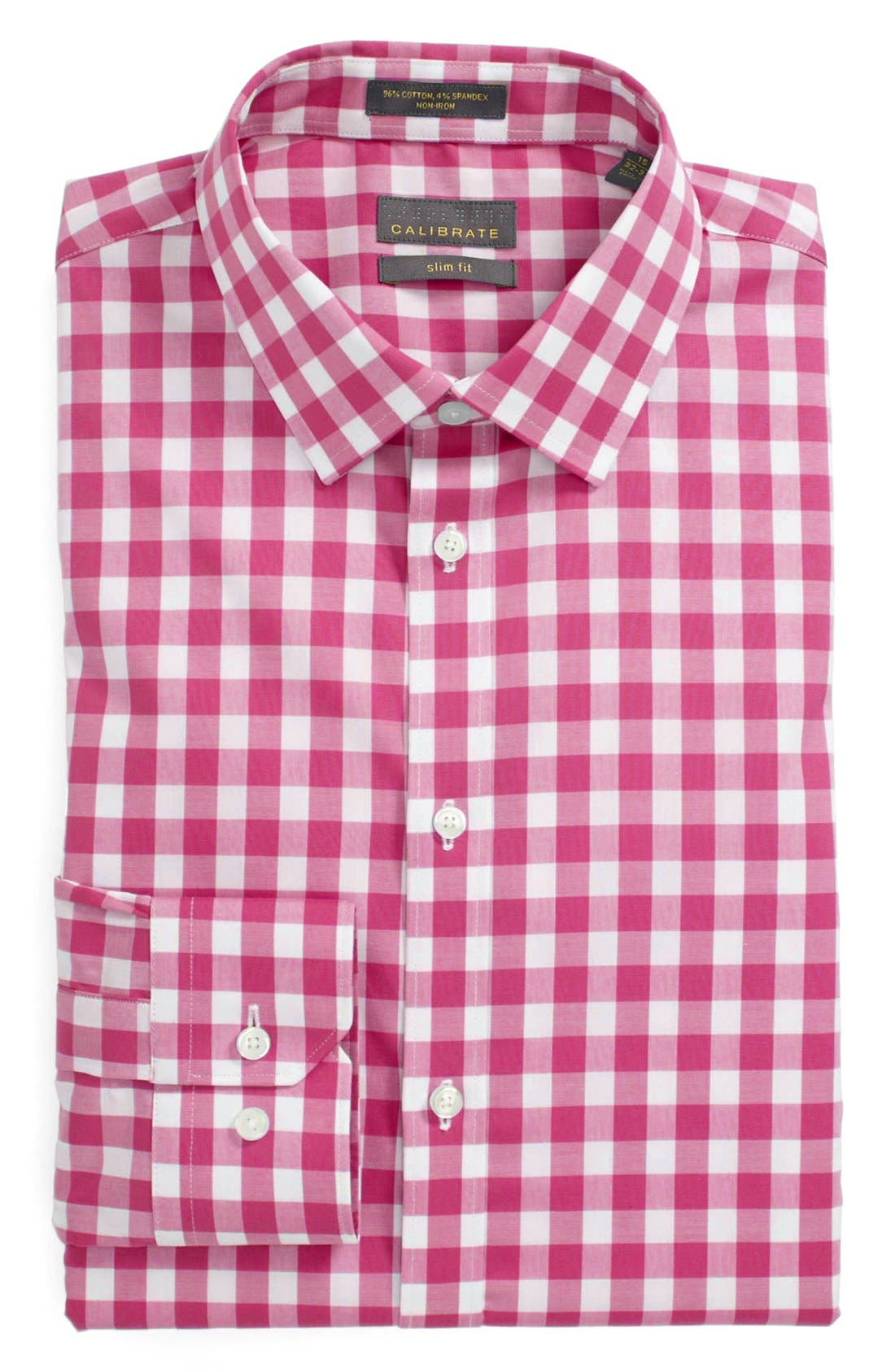 Main Image - Calibrate Slim Fit Non Iron Gingham Dress Shirt