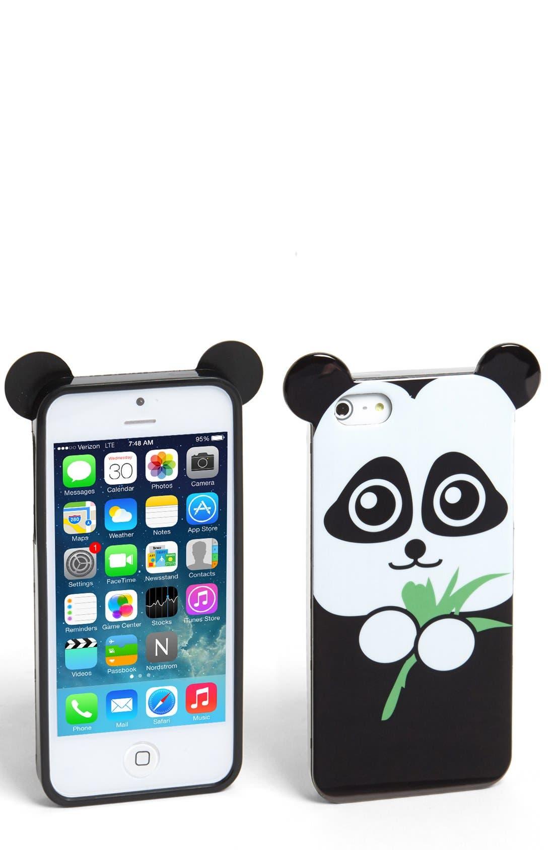 Alternate Image 1 Selected - Tri-Coastal Design Panda iPhone 5 & 5s Case (Juniors) (Online Only)