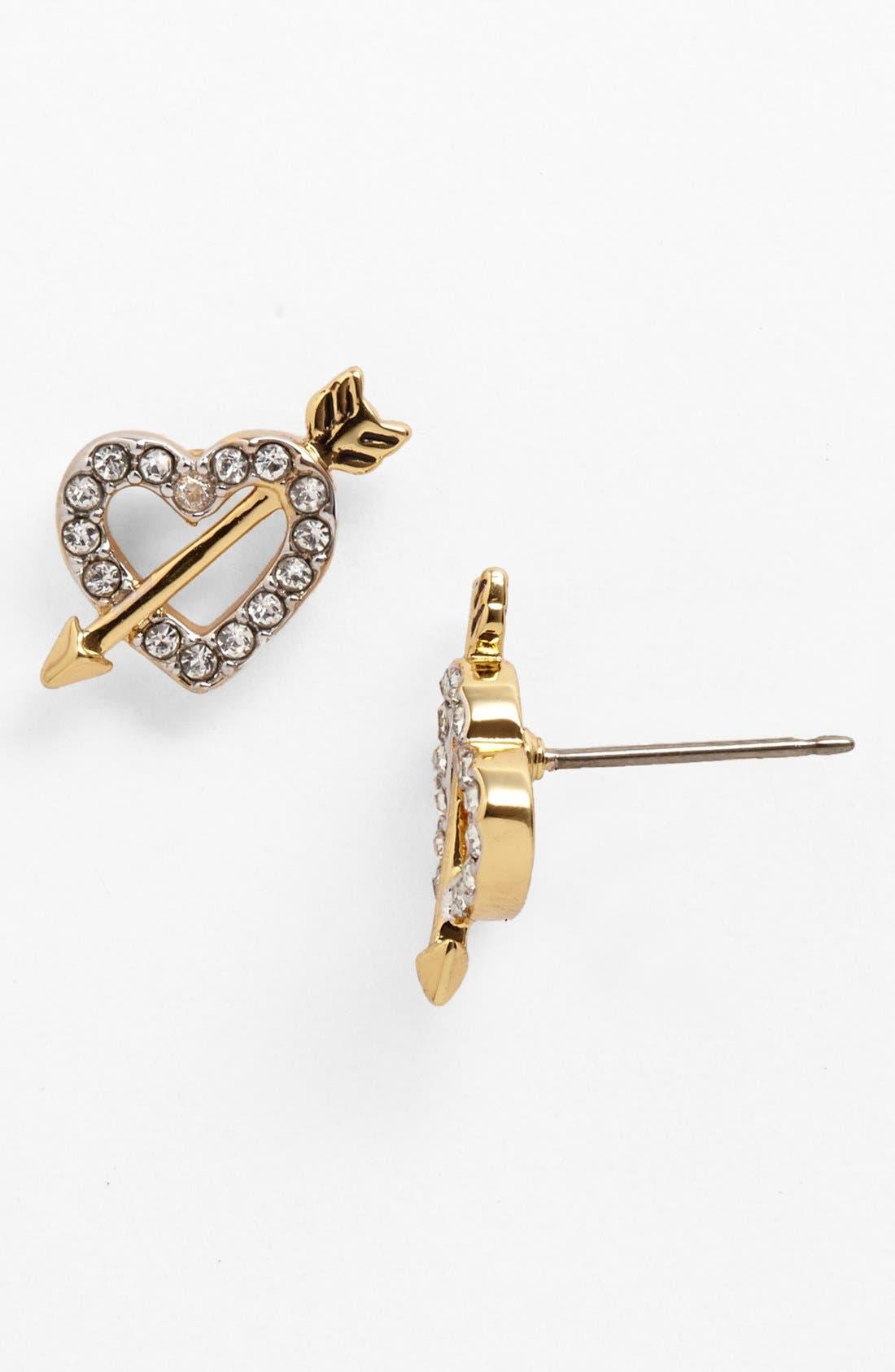 Alternate Image 1 Selected - Juicy Couture 'Juicy at Heart' Heart & Arrow Stud Earrings
