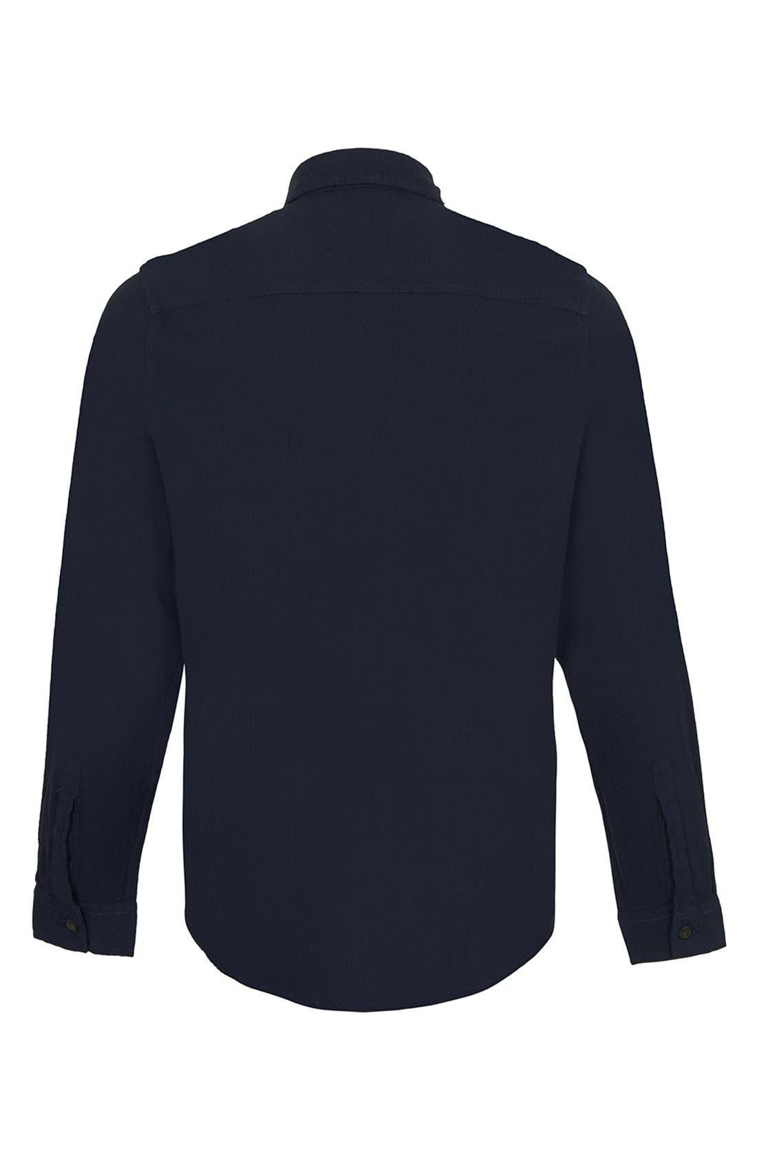 Alternate Image 2  - Topman Brushed Herringbone Shirt