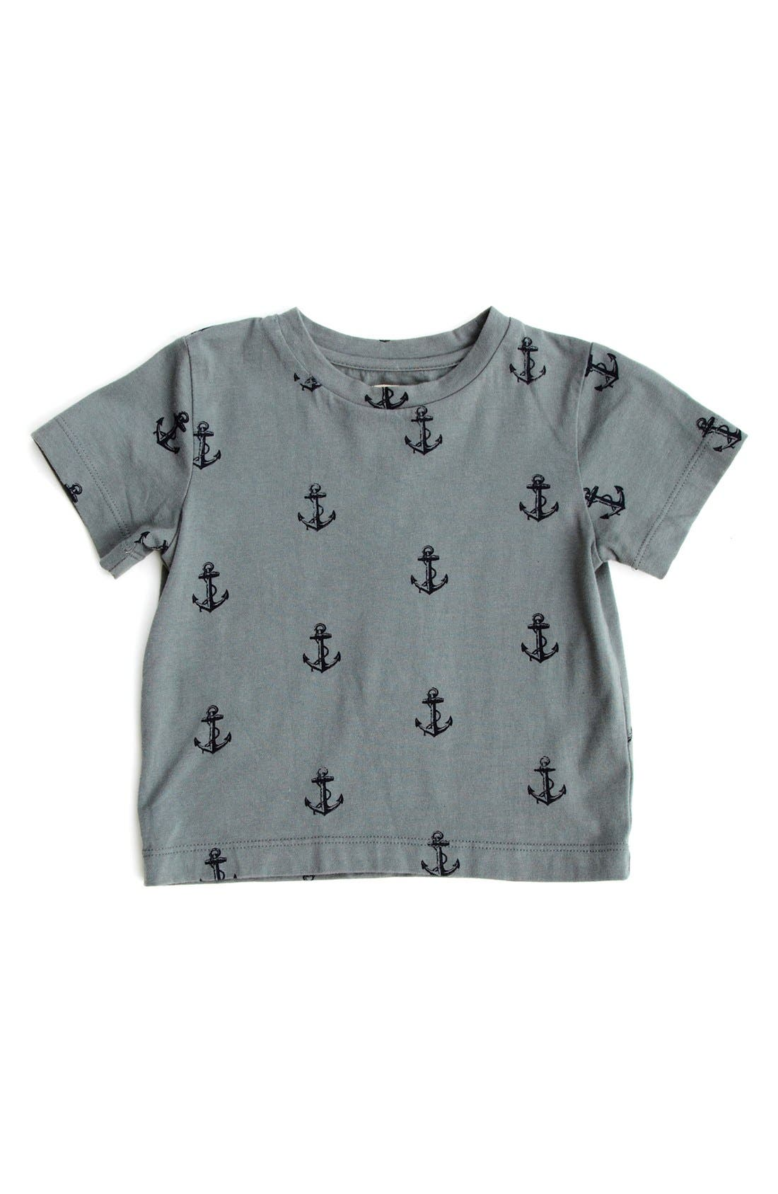 Alternate Image 1 Selected - Peek 'Allover Anchor' T-Shirt (Baby Boys)