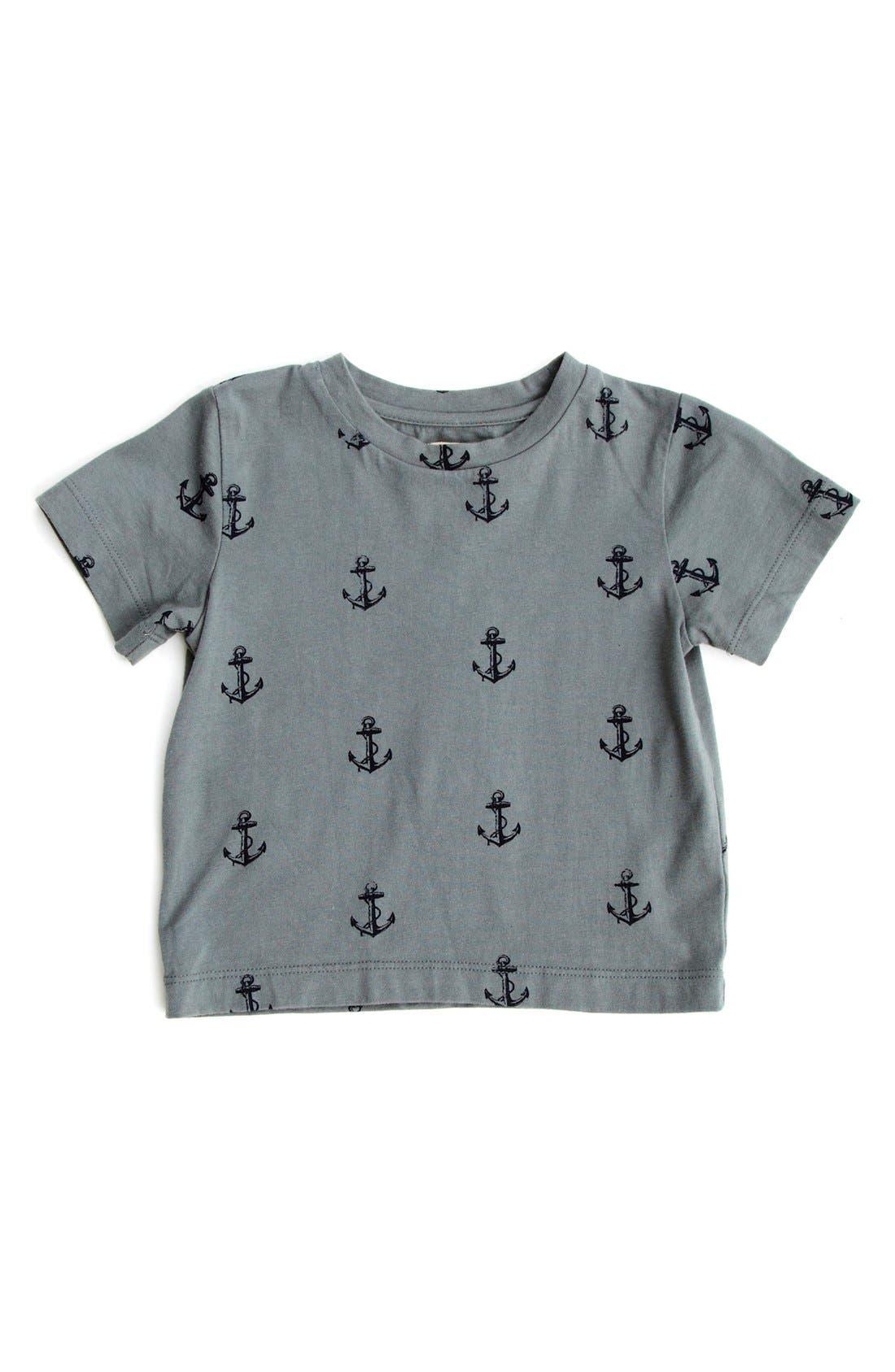 Main Image - Peek 'Allover Anchor' T-Shirt (Baby Boys)