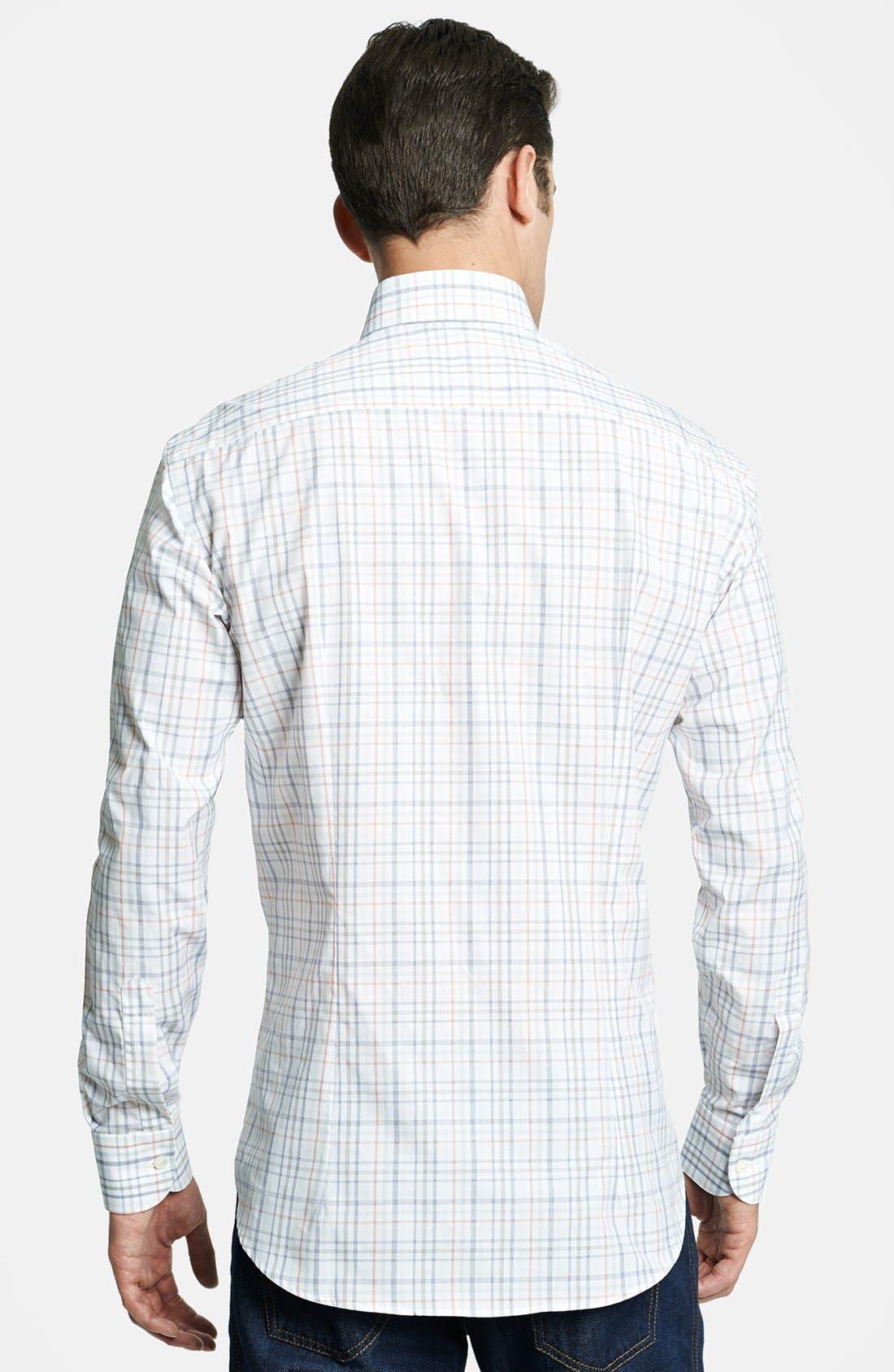 Alternate Image 2  - Salvatore Ferragamo Trim Fit Plaid Sport Shirt