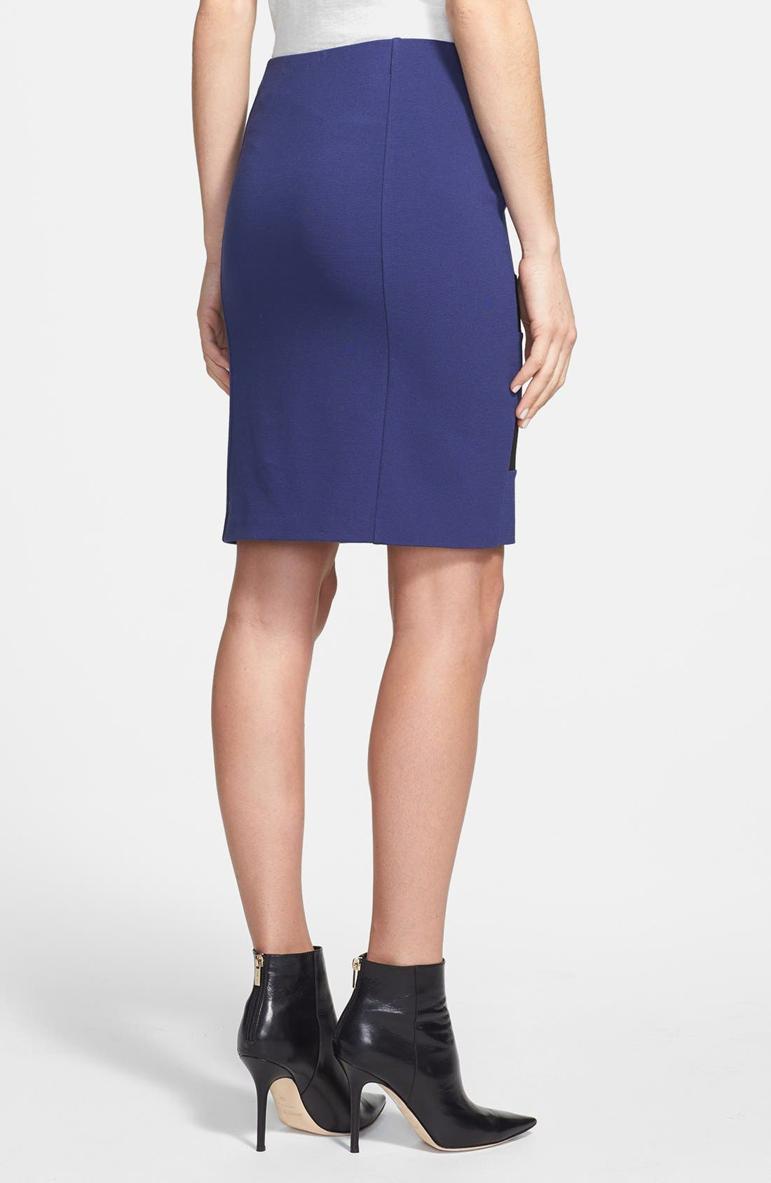 Alternate Image 2  - DKNYC Colorblock Stretch Knit Skirt