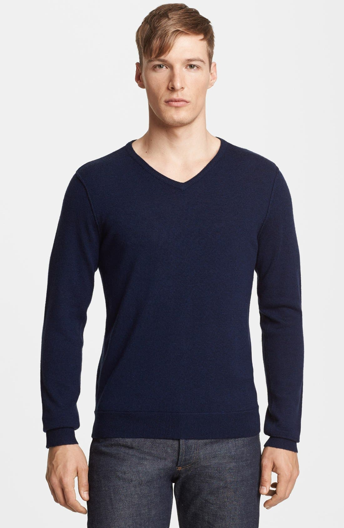 Alternate Image 1 Selected - rag & bone 'Abingdon' V-Neck Merino Wool Sweater