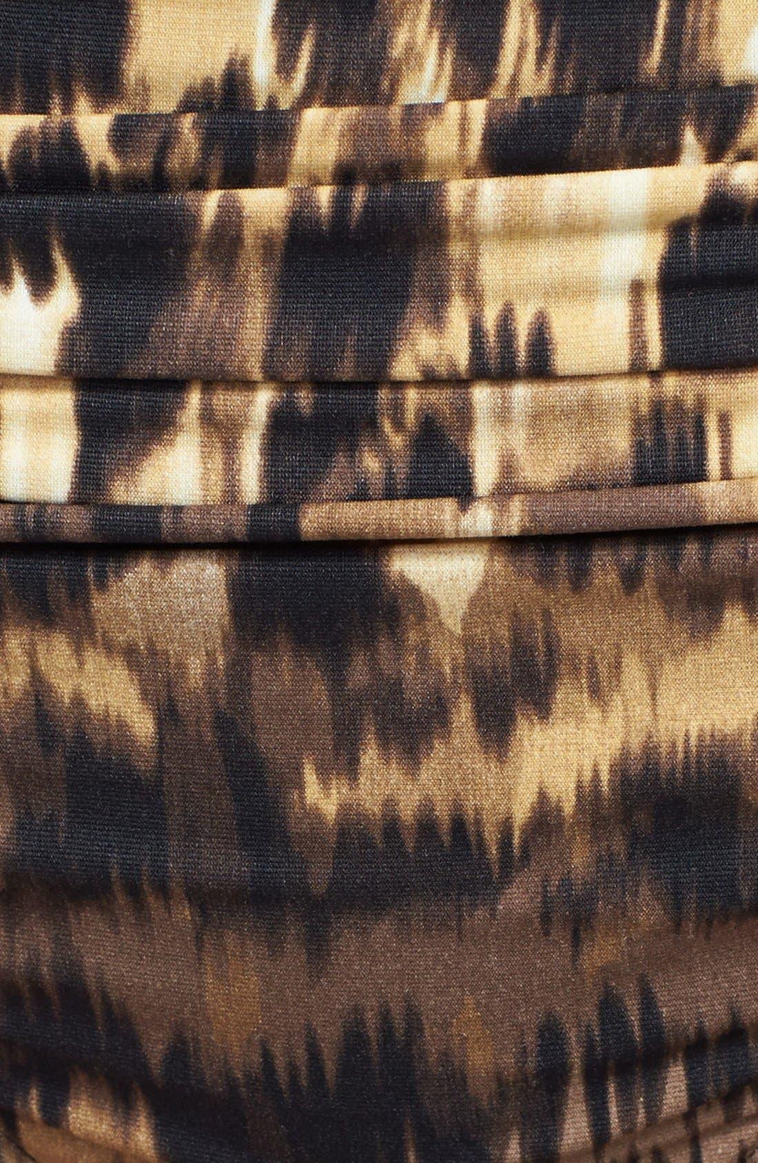 Alternate Image 5  - Carmen Marc Valvo 'Zanzibar Leopard' Shirred Bikini Bottoms