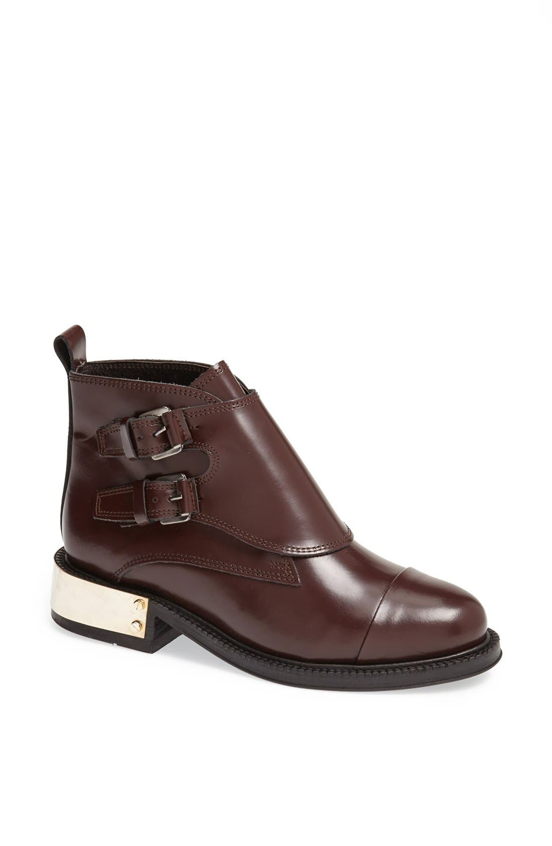 Main Image - Topshop 'Pertora' Leather Monk Strap Boot