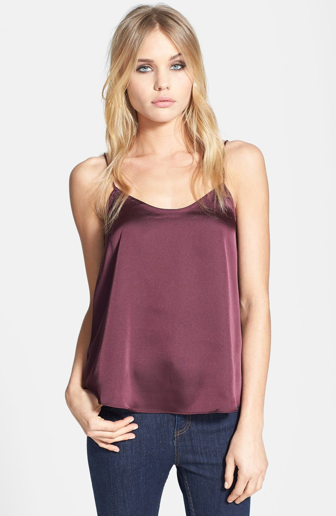 Alternate Image 1 Selected - Topshop Satin Camisole
