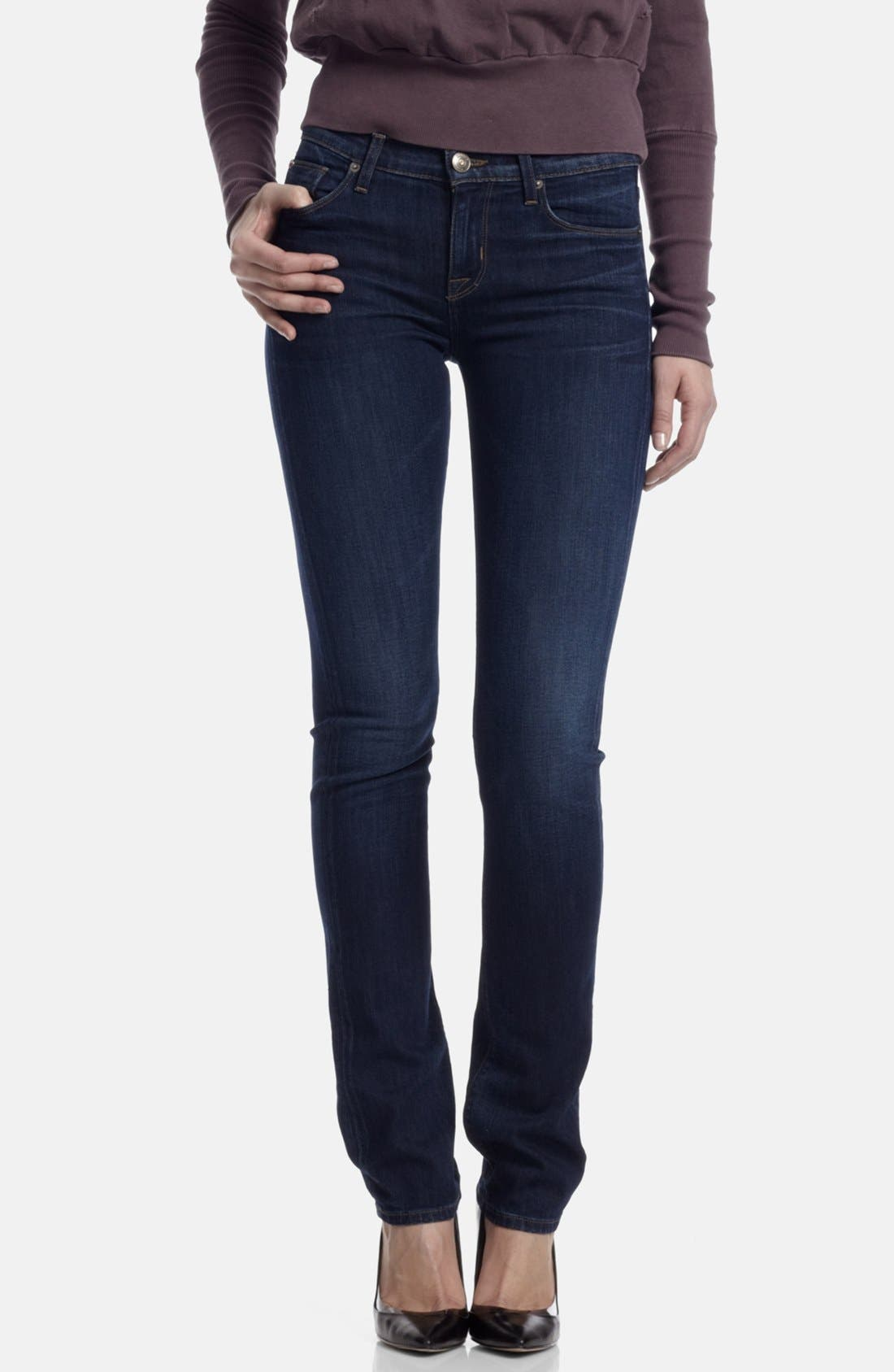 Alternate Image 1 Selected - Hudson Jeans Mid Rise Straight Leg Jeans (Unplugged)