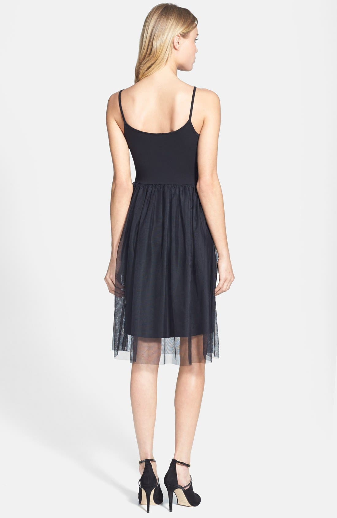 Alternate Image 2  - Topshop Tulle Midi Dress