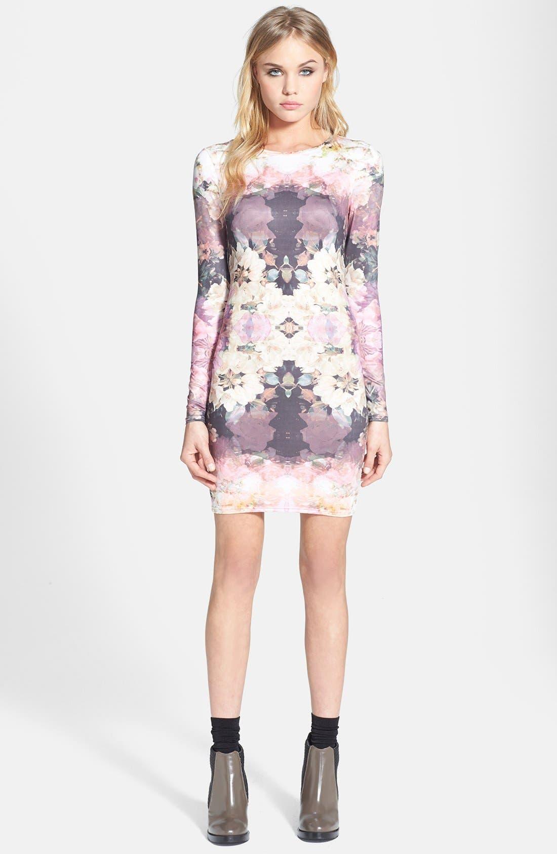 Main Image - Topshop 'Mirror Bloom' Jersey Body-Con Dress