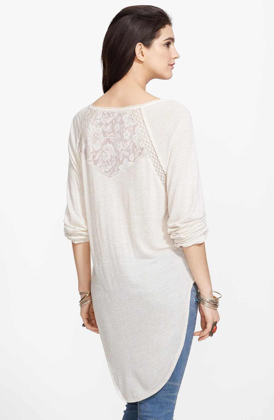 Alternate Image 2  - Free People 'She Needs to Roam' Embroidered High/Low Top