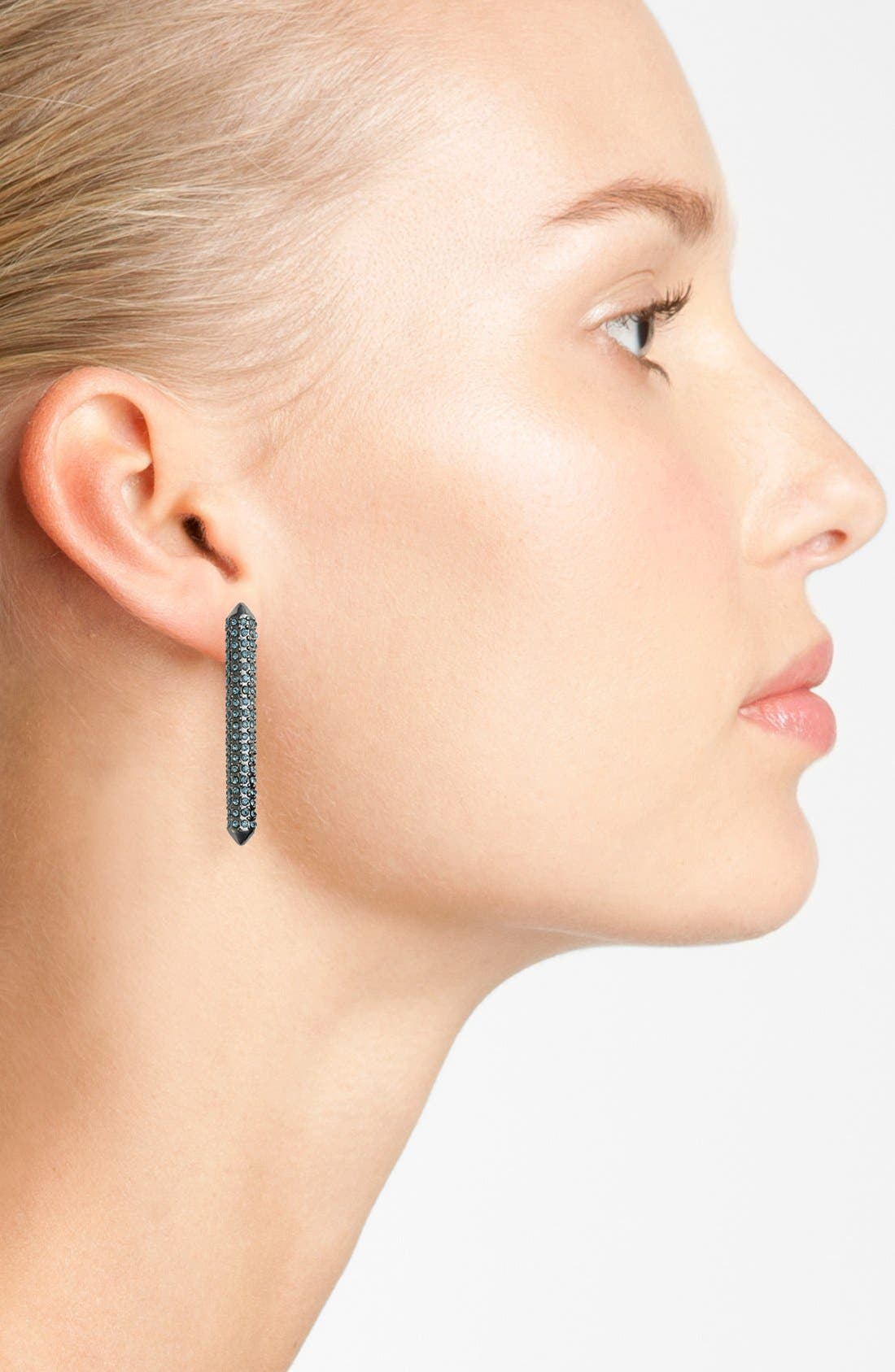 Alternate Image 2  - Rebecca Minkoff Long Bar Stud Earrings