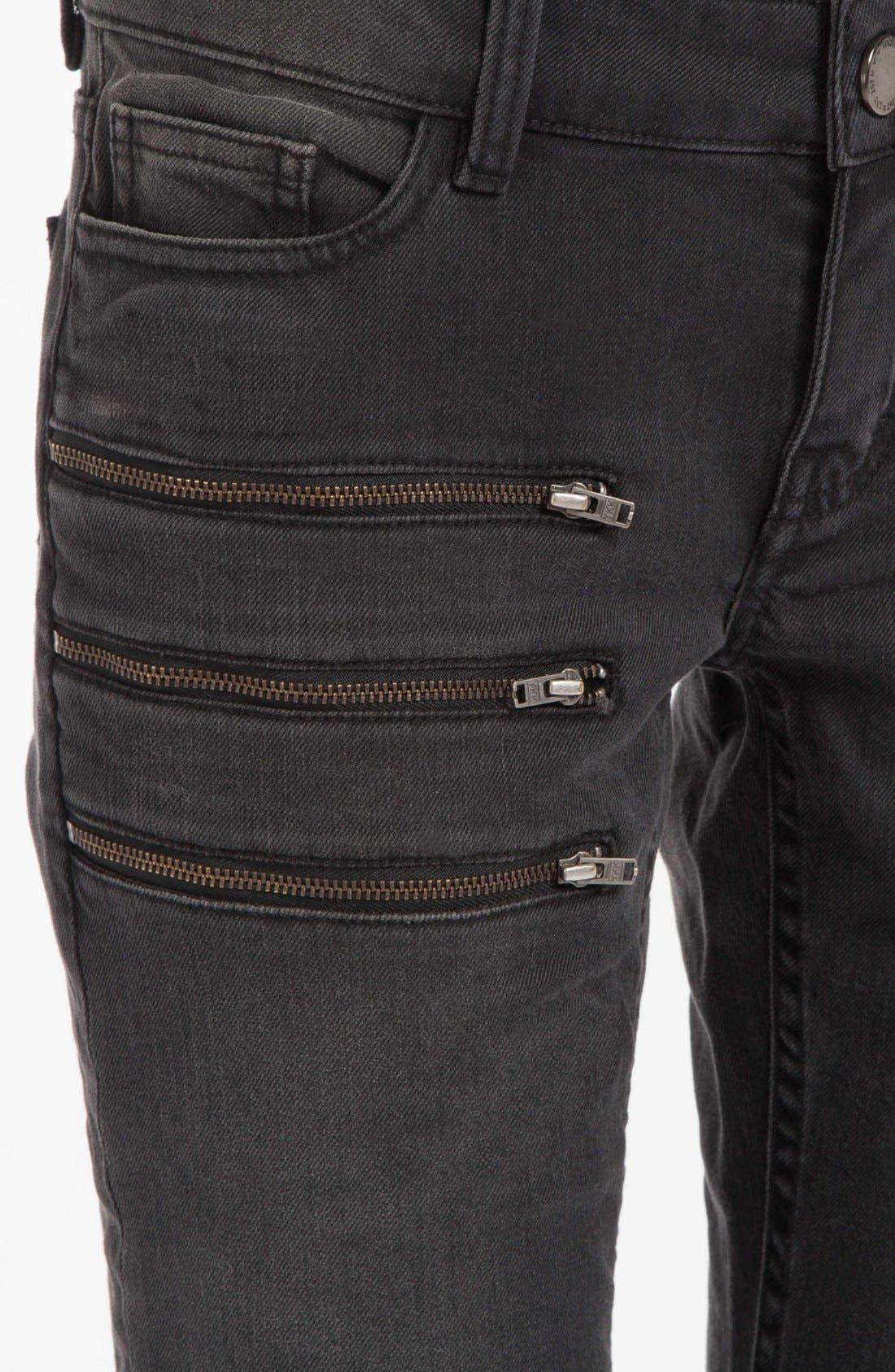 Alternate Image 3  - maje 'Dip' Colored Skinny Jeans (Noir)