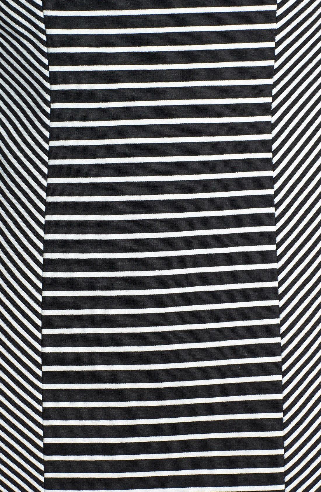 Alternate Image 3  - Classiques Entier® 'Linear' Stripe Panel Ponte Dress