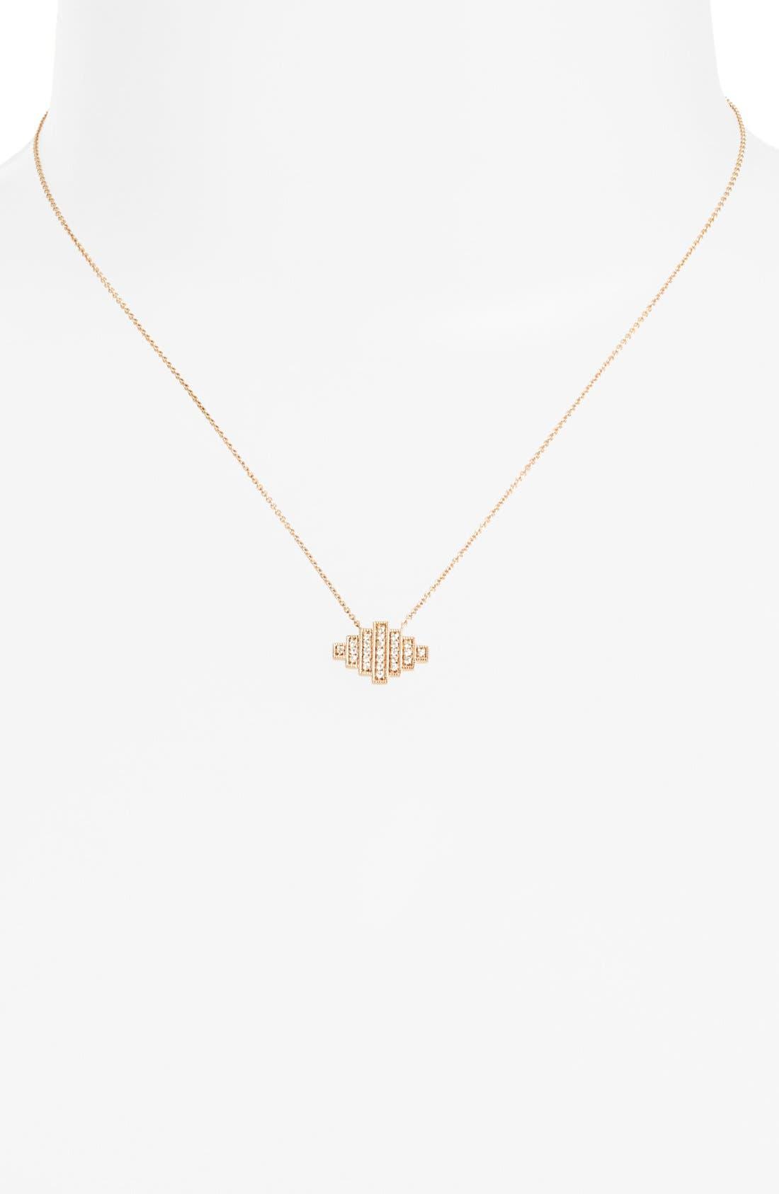 Alternate Image 2  - Dana Rebecca Designs 'Jeb' Diamond Pendant Necklace