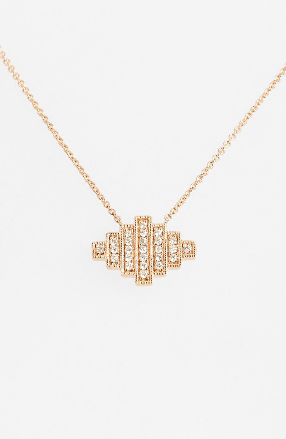 Main Image - Dana Rebecca Designs 'Jeb' Diamond Pendant Necklace