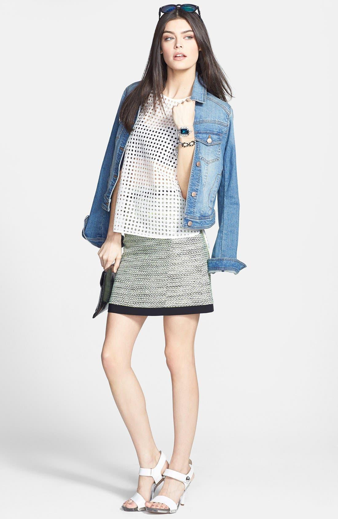 Alternate Image 4  - Halogen® 'Exotic Tweed' A-Line Skirt