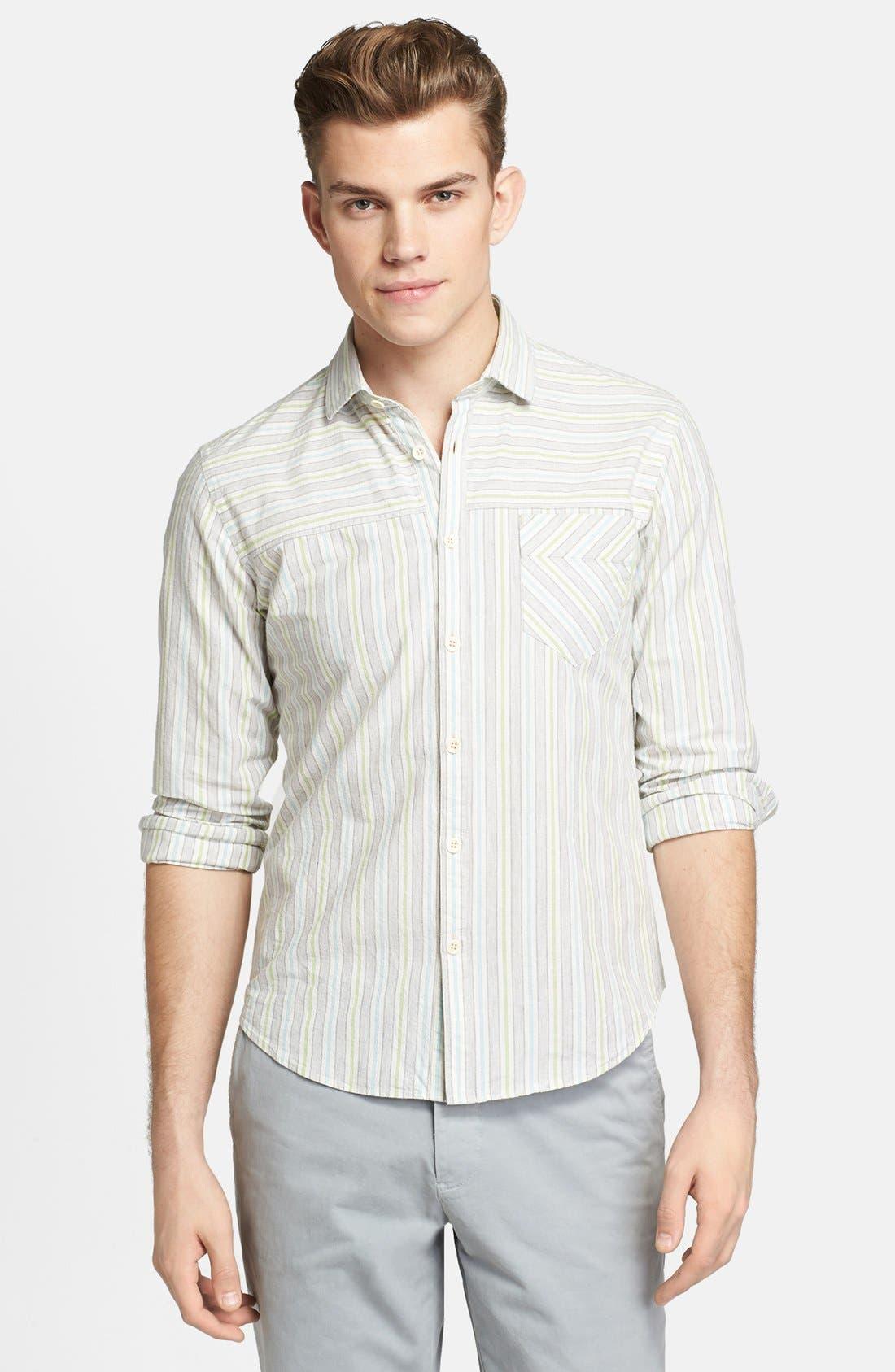 Alternate Image 1 Selected - Billy Reid 'Courtland' Stripe Shirt