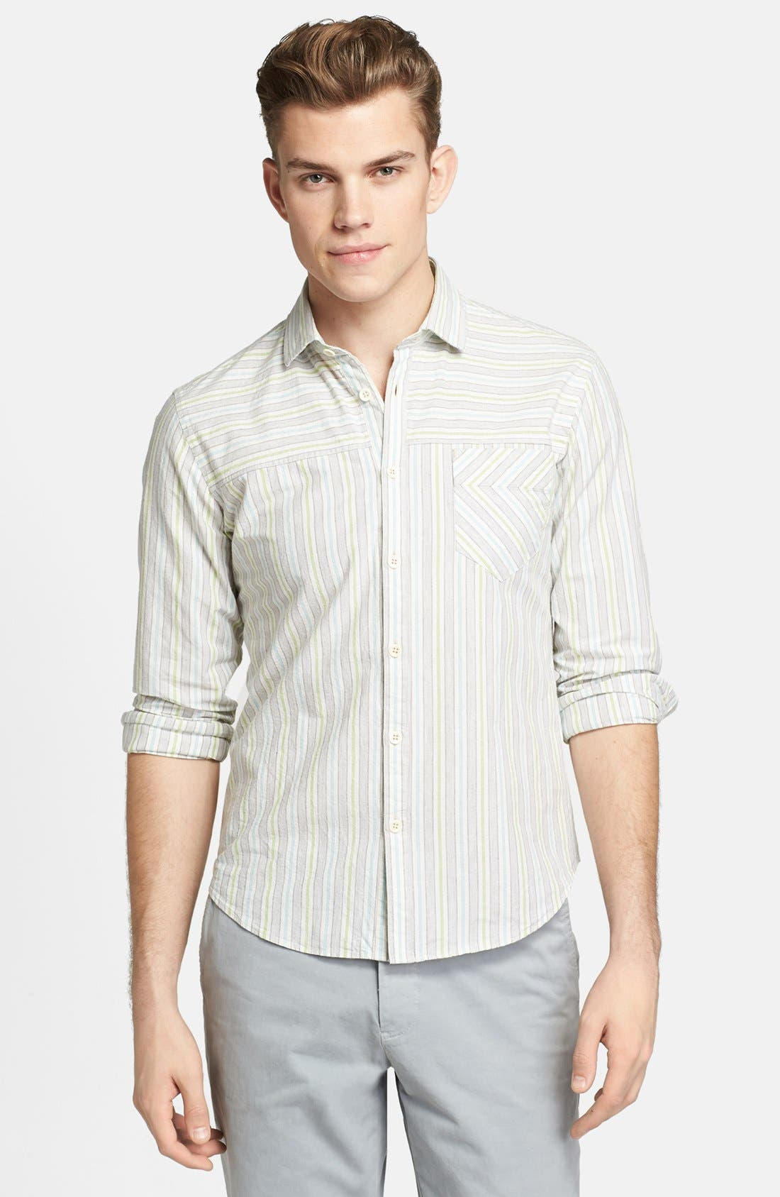 Main Image - Billy Reid 'Courtland' Stripe Shirt
