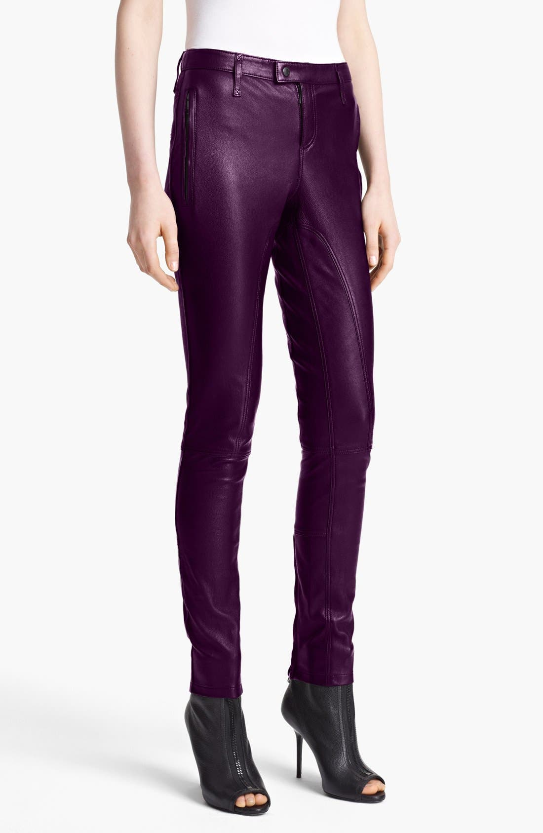 Main Image - Burberry Brit 'Clipstone' Leather Pants (Online Only)