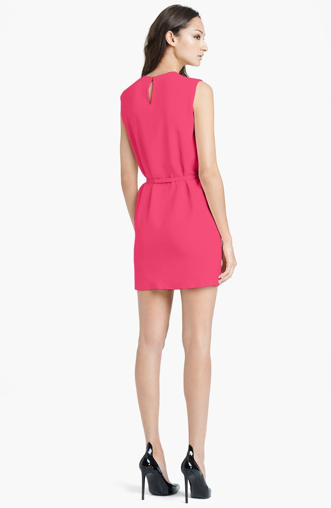 Alternate Image 2  - Saint Laurent Belted Cady Dress