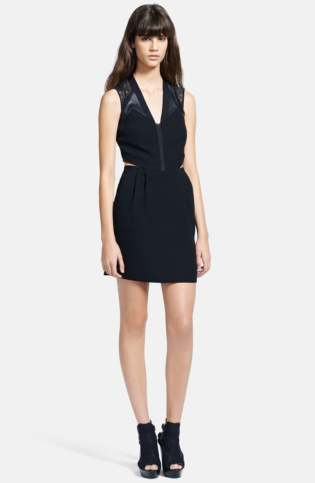 Main Image - The Kooples Cutout Crepe Dress
