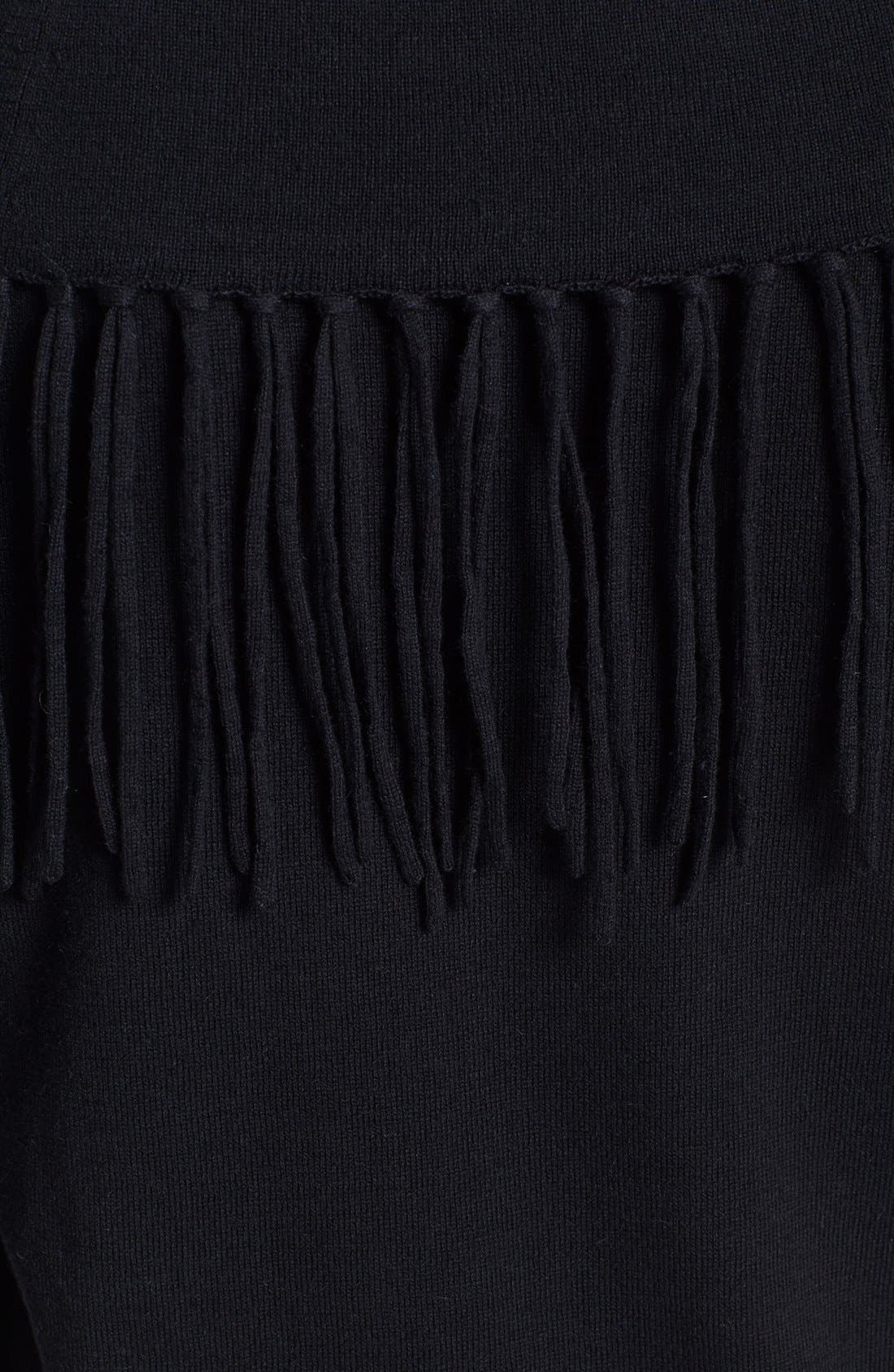 Alternate Image 3  - MICHAEL Michael Kors Fringe Cowl Neck Sweater (Petite)
