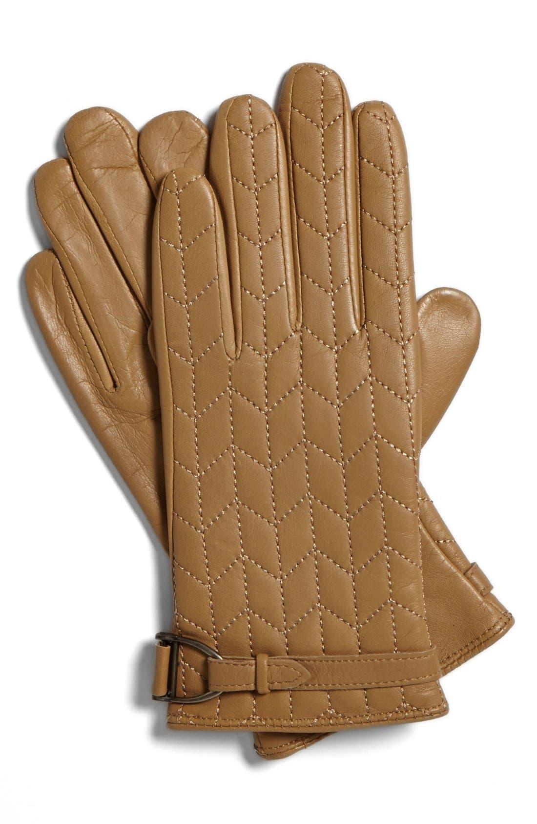Alternate Image 1 Selected - Lauren Ralph Lauren Quilted Gloves