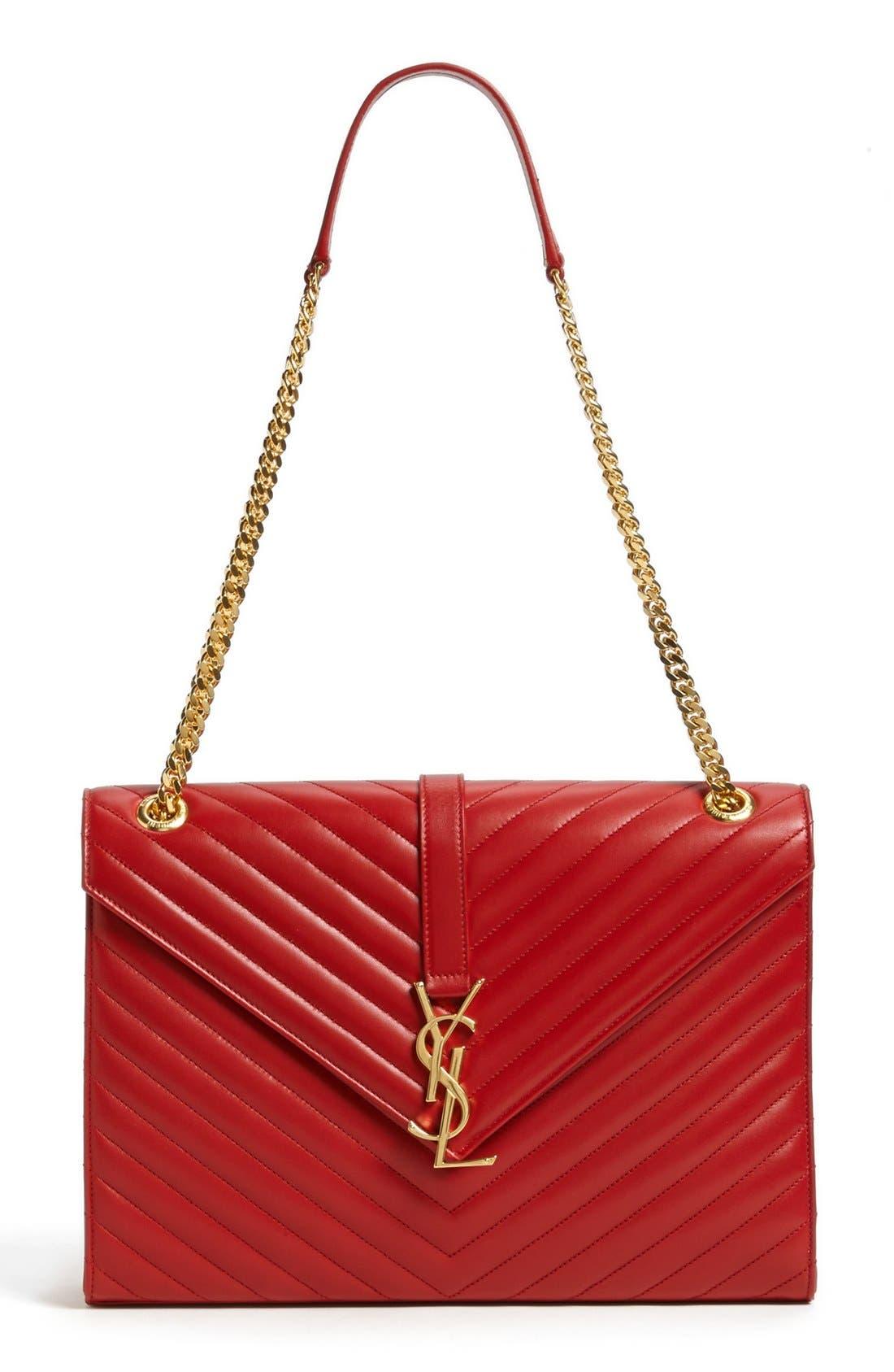 Alternate Image 1 Selected - Saint Laurent 'Cassandre Lisse - Large' Shoulder Bag