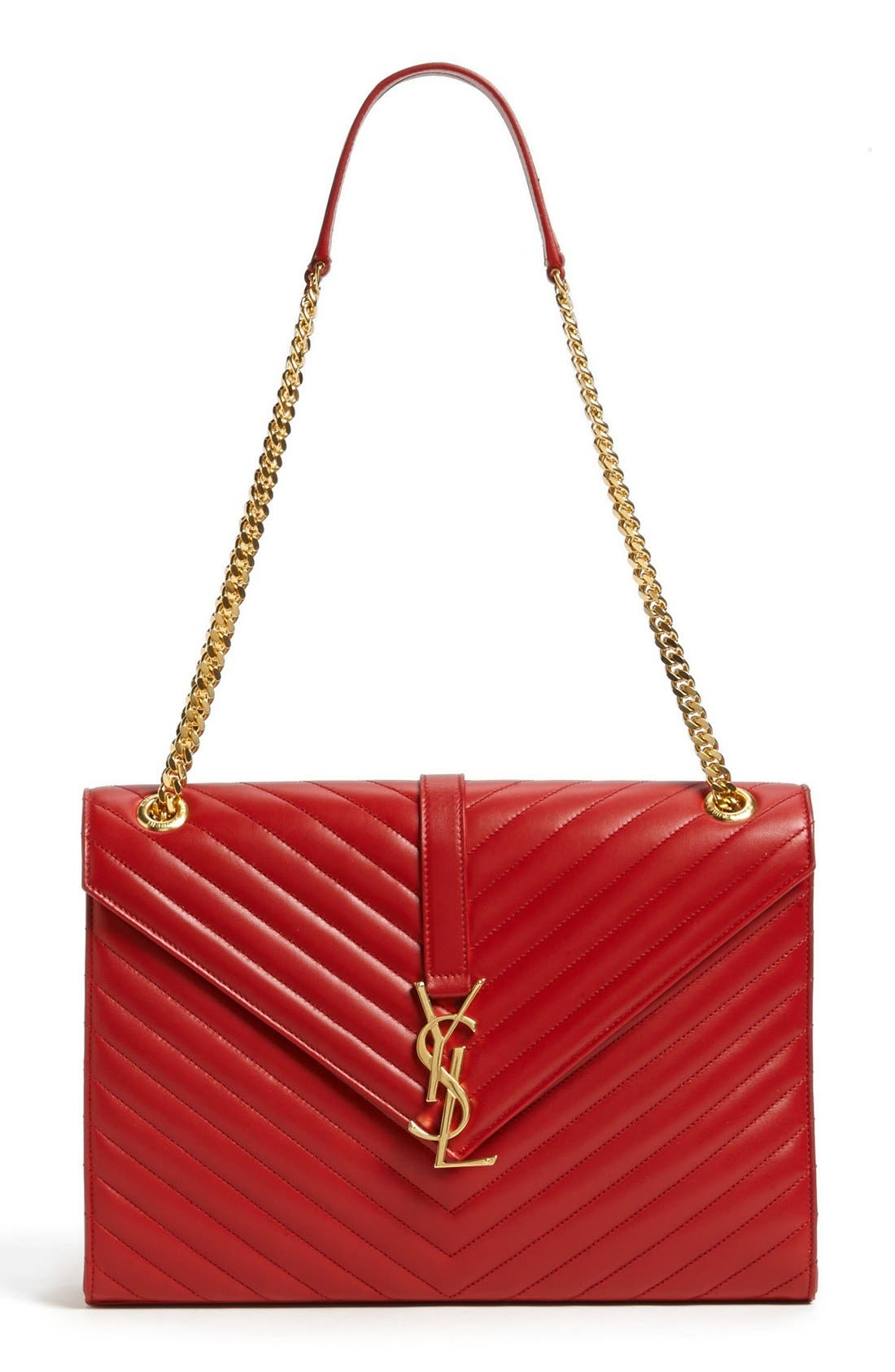Main Image - Saint Laurent 'Cassandre Lisse - Large' Shoulder Bag