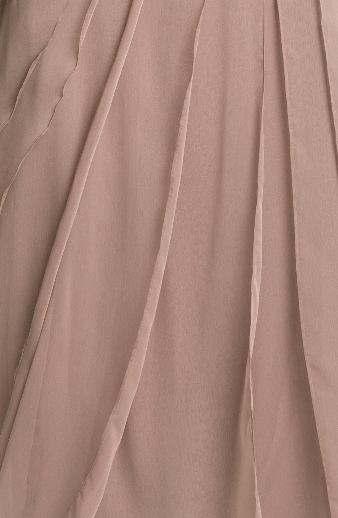 Alternate Image 3  - Adrianna Papell Layered Chiffon & Lace Gown