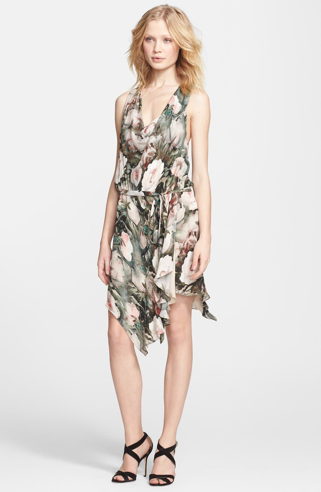 Alternate Image 1 Selected - Haute Hippie Floral Print Silk Dress