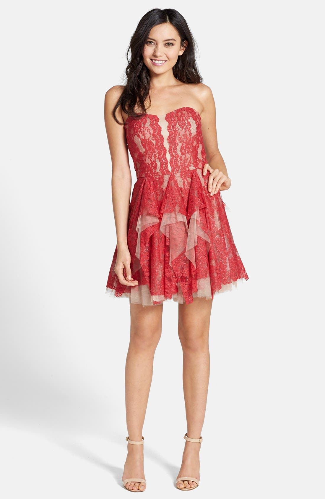 Alternate Image 3  - Hailey by Adrianna Papell Lace Fit & Flare Dress