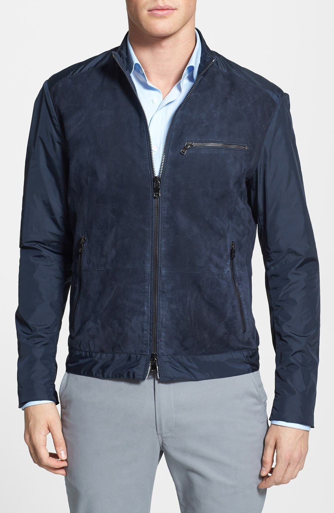 Main Image - Michael Kors Mixed Media Jacket