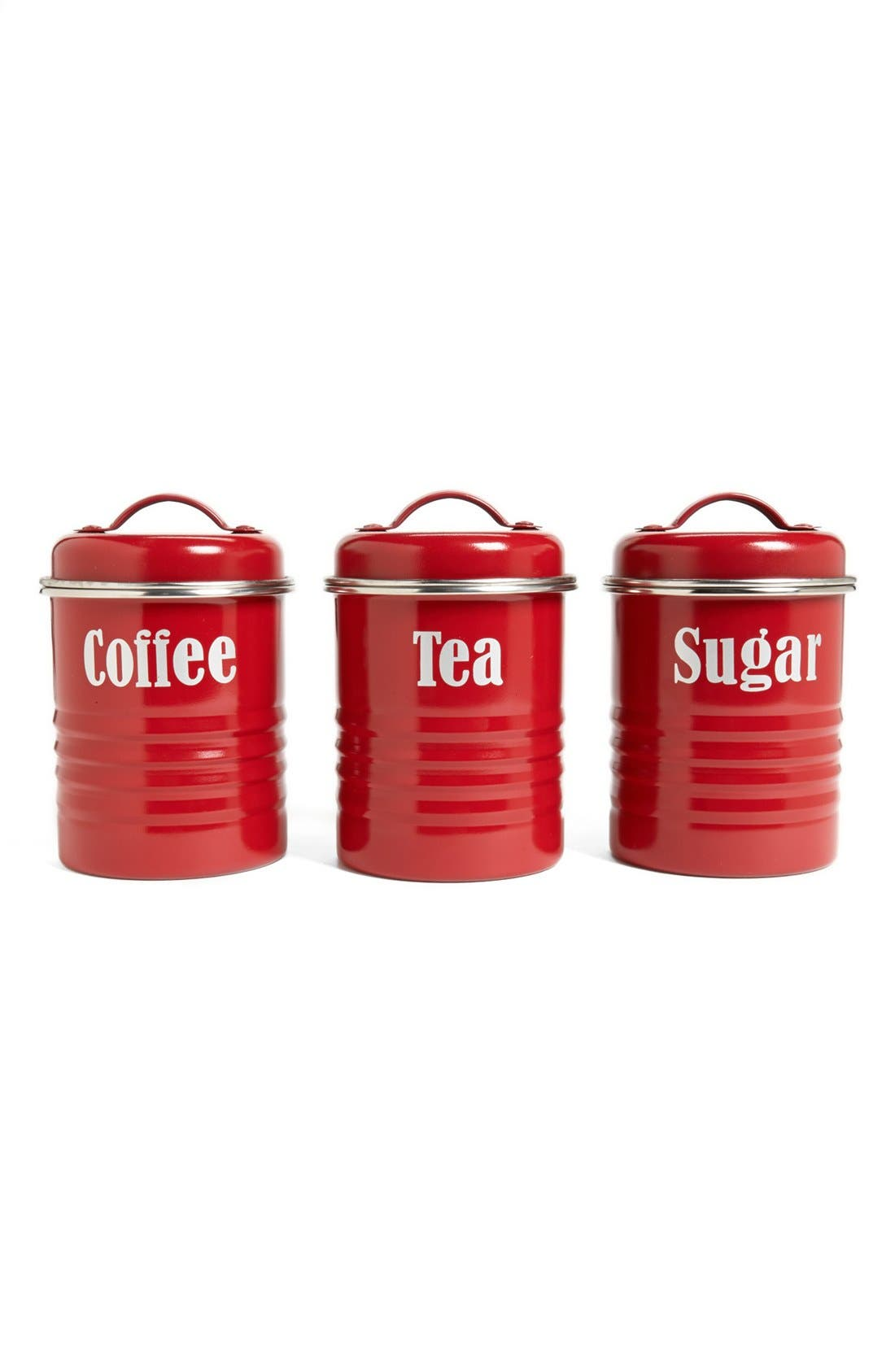 Alternate Image 1 Selected - Typhoon 'Vintage Kitchen' Enameled Tea, Coffee & Sugar Storage Canisters (Set of 3)