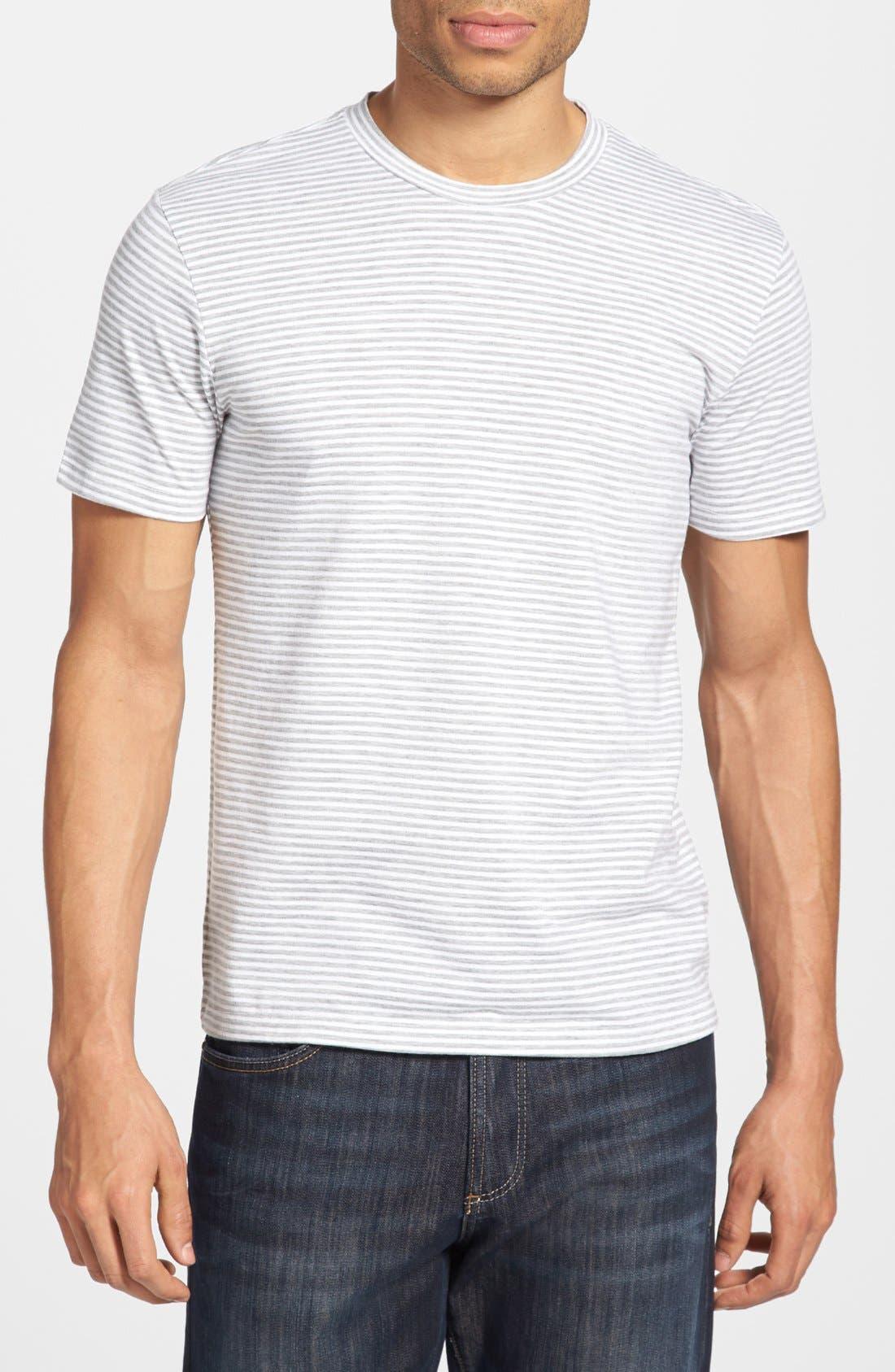 Main Image - The Rail Feeder Stripe Crewneck T-Shirt