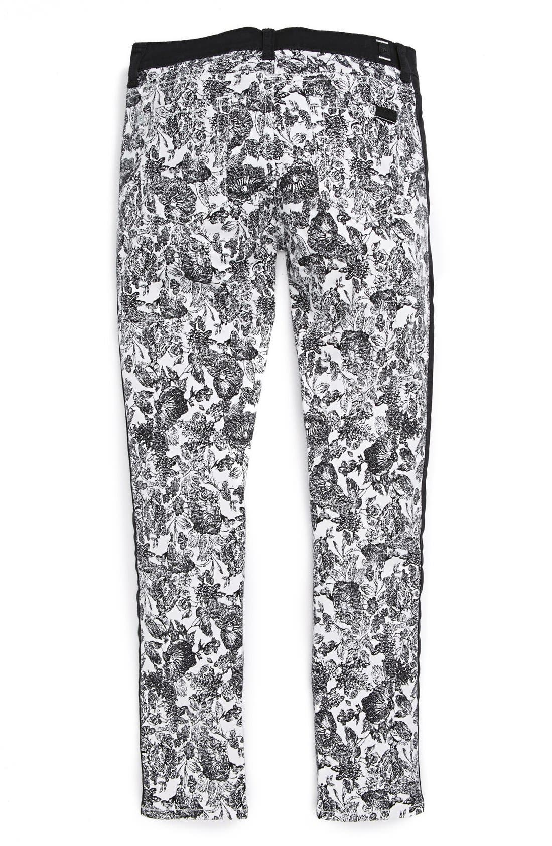 Alternate Image 2  - 7 For All Mankind® 'The Skinny' Print Jeans (Little Girls & Big Girls)