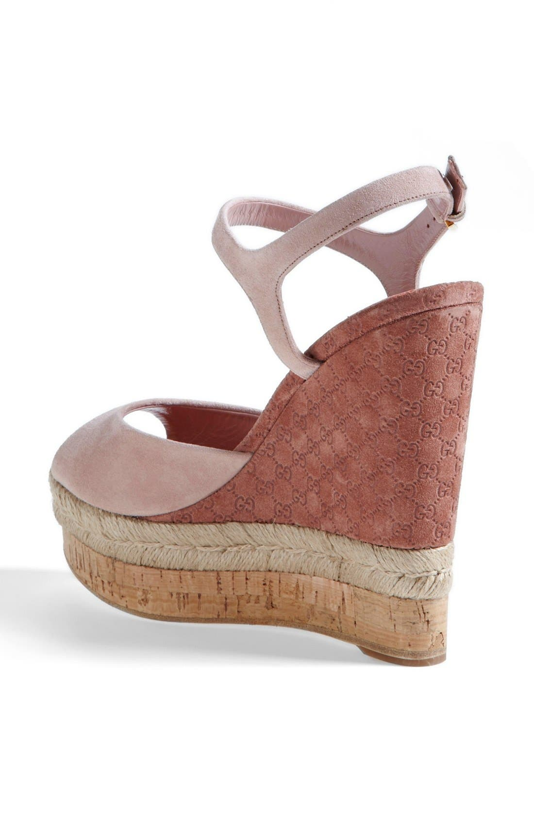 Alternate Image 2  - Gucci 'Hollie' Wedge Sandal (Women)