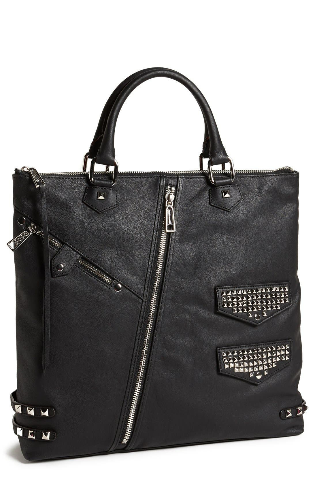 Alternate Image 1 Selected - Rebecca Minkoff Studded Leather Moto Tote
