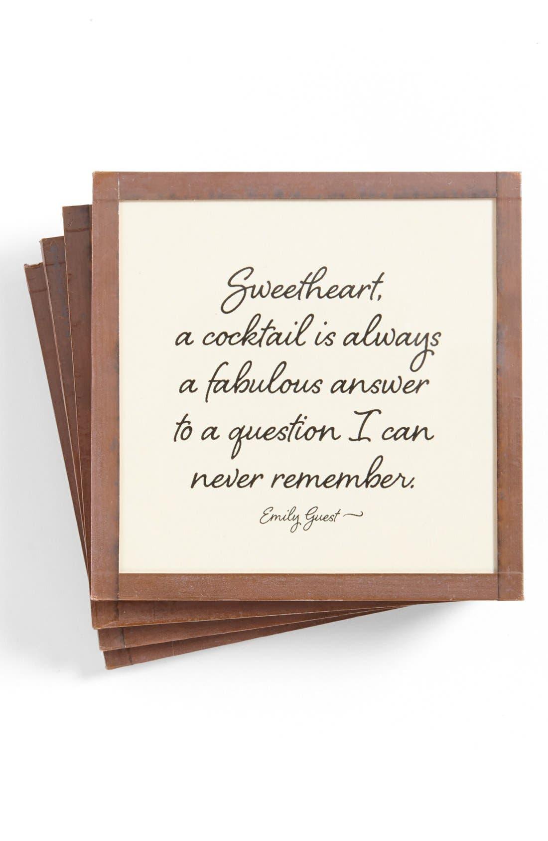 Main Image - Ben's Garden 'Sweetheart' Coasters (Set of 4)